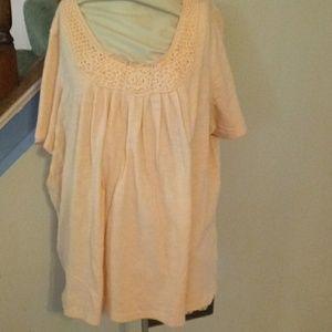 1x. Peach summer blouse